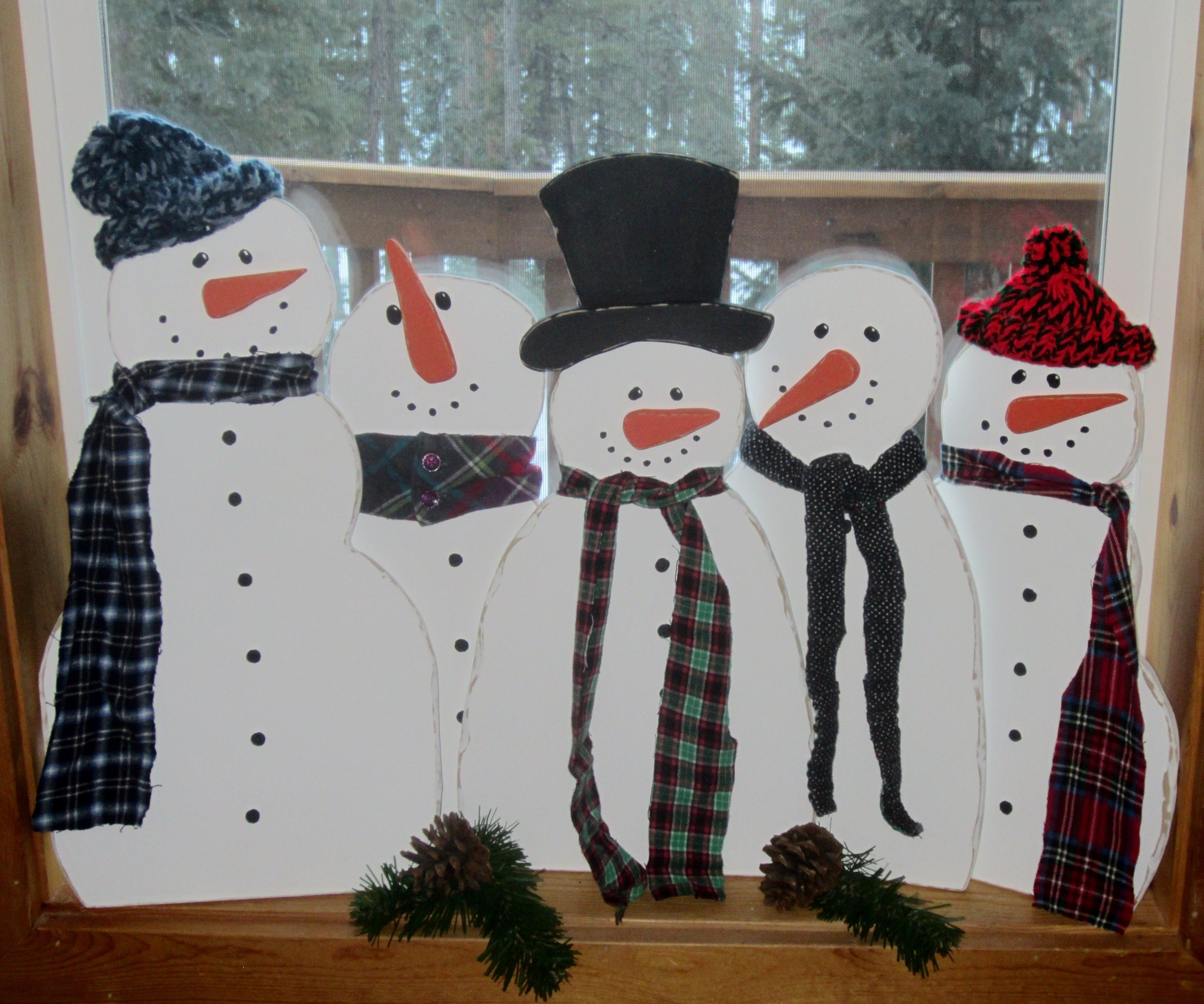 Pinspired wood snowmen scroll saw winter projects scroll saw