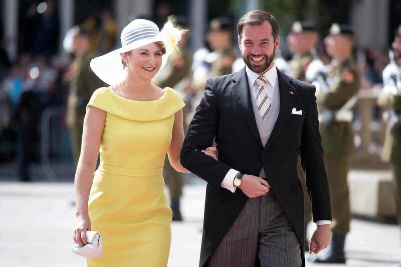 Hereditary Grand Duchess Stephanie & Hereditary Grand Duke Guillaume At Te Deum For National Day Celebrations. June 23,  2015