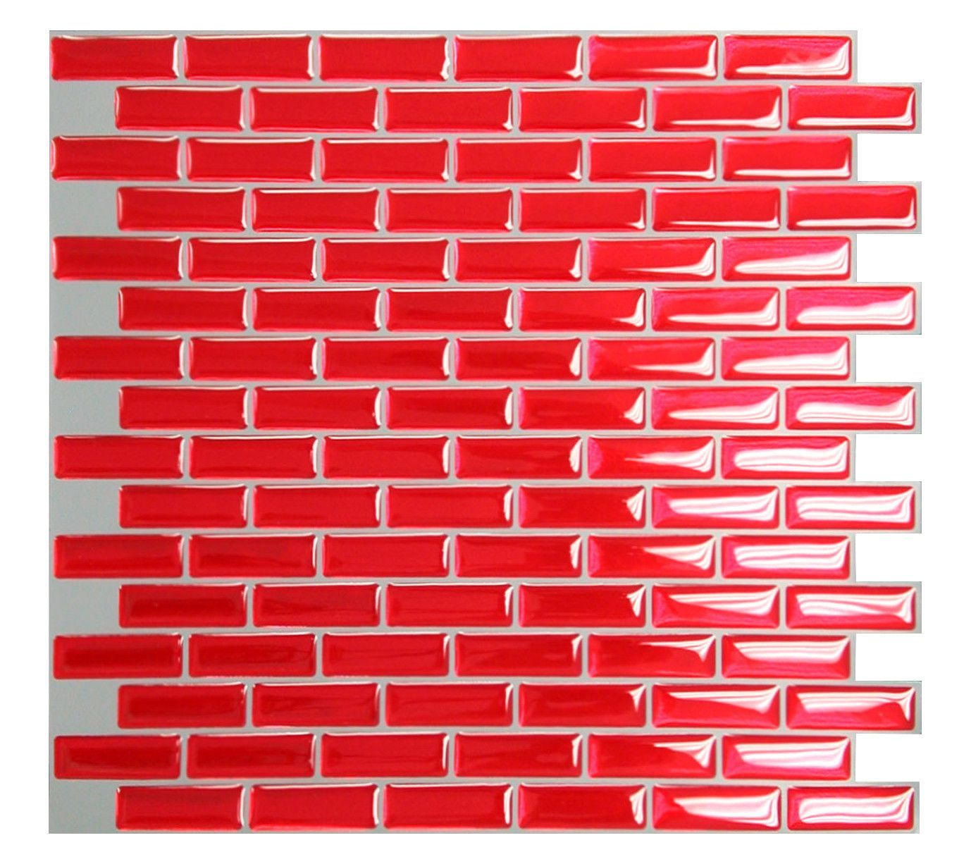 mosaik 9 1 x 10 2 resin peel stick mosaic tile in red rh pinterest com