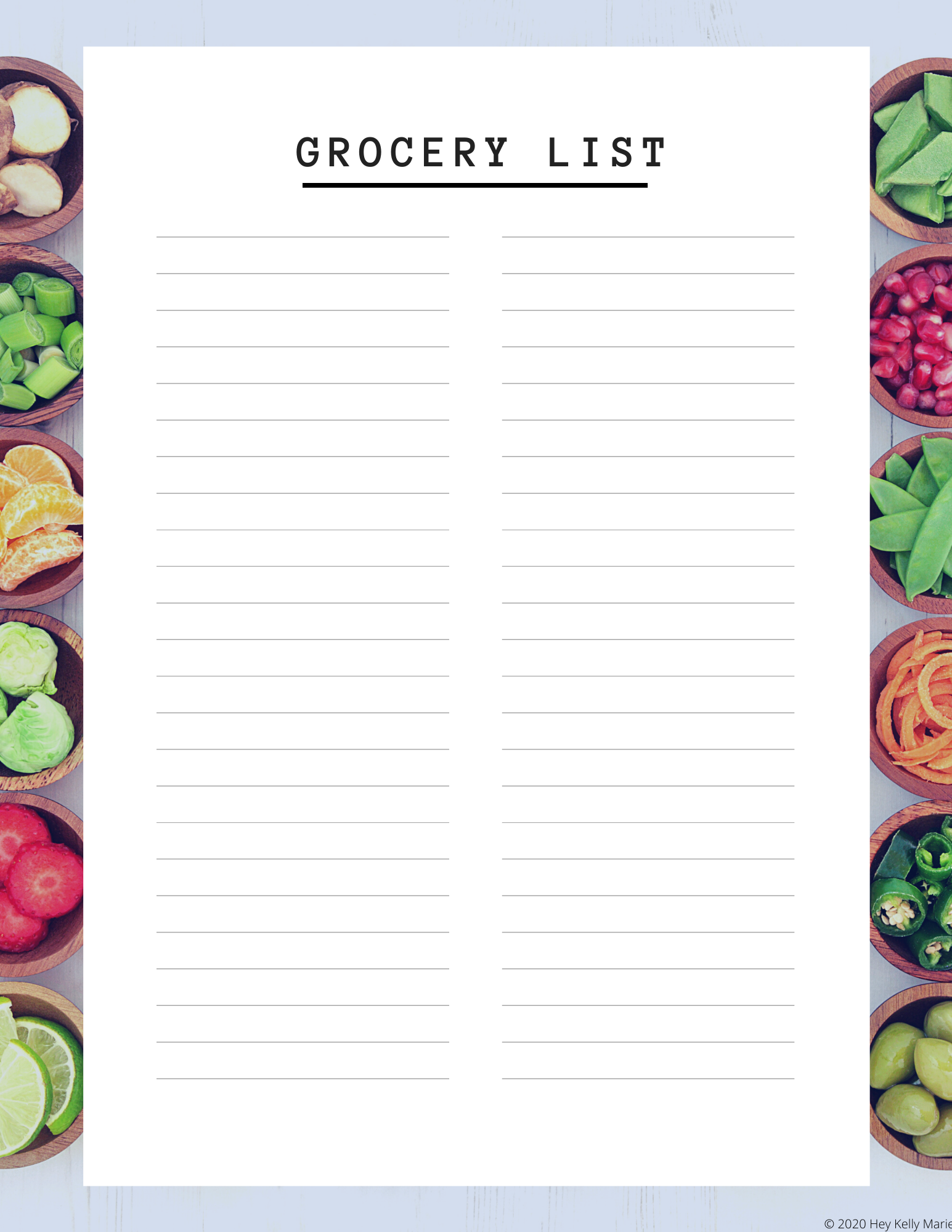 Free Printable Meal Planner And Grocery List In