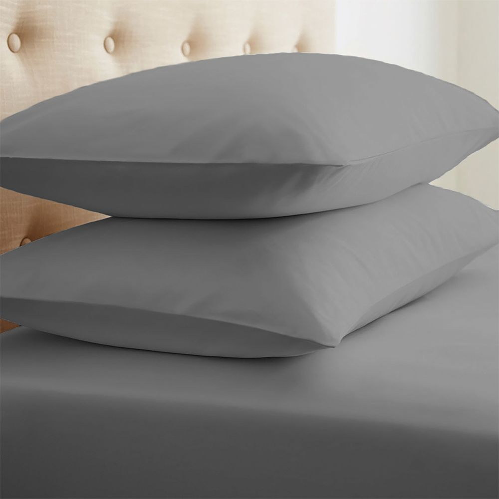 This 2-Piece Essential Pillowcase Set is the perfect addition to your bedding. Crafted with the finest microfiber, these pillowcases are gentle, durable, and stain resistant. These pillowcases are completely wrinkle free eliminating the need for ironing. Because we care deeply about your quality of life, our microfiber products are 100% hypoallergenic, antimicrobial, and antibacterial.