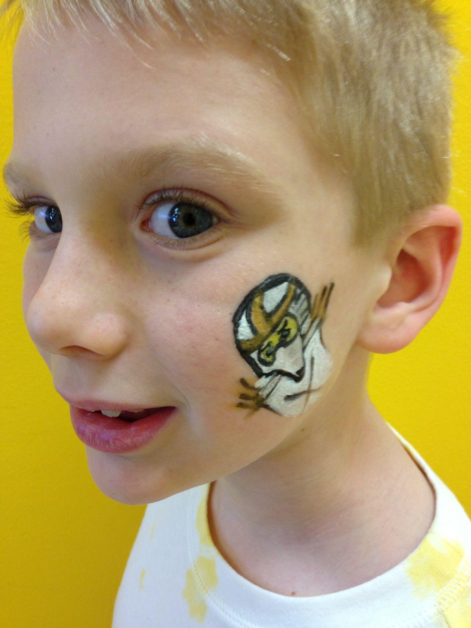 Ausmalbilder Ninjago Gesicht: Face Painting - Ninjago Zane, Ninja