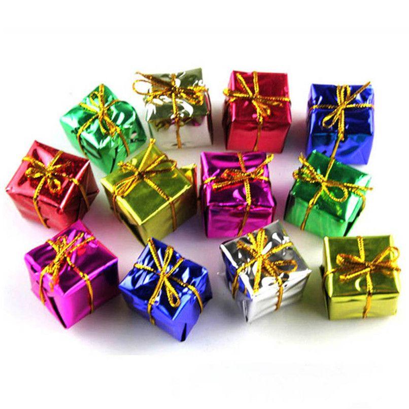 12PC Fashion Gift Boxes Christmas Tree Pendant Ornaments Decorations - christmas decorations wholesale