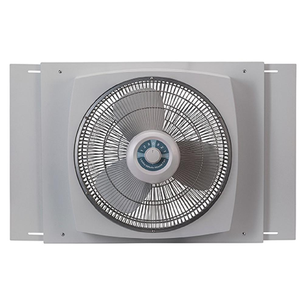 Lasko 16 In Window Fan With Ez Dial Ventilation W16900 The Home Depot Window Fans Lasko Whole House Ventilation