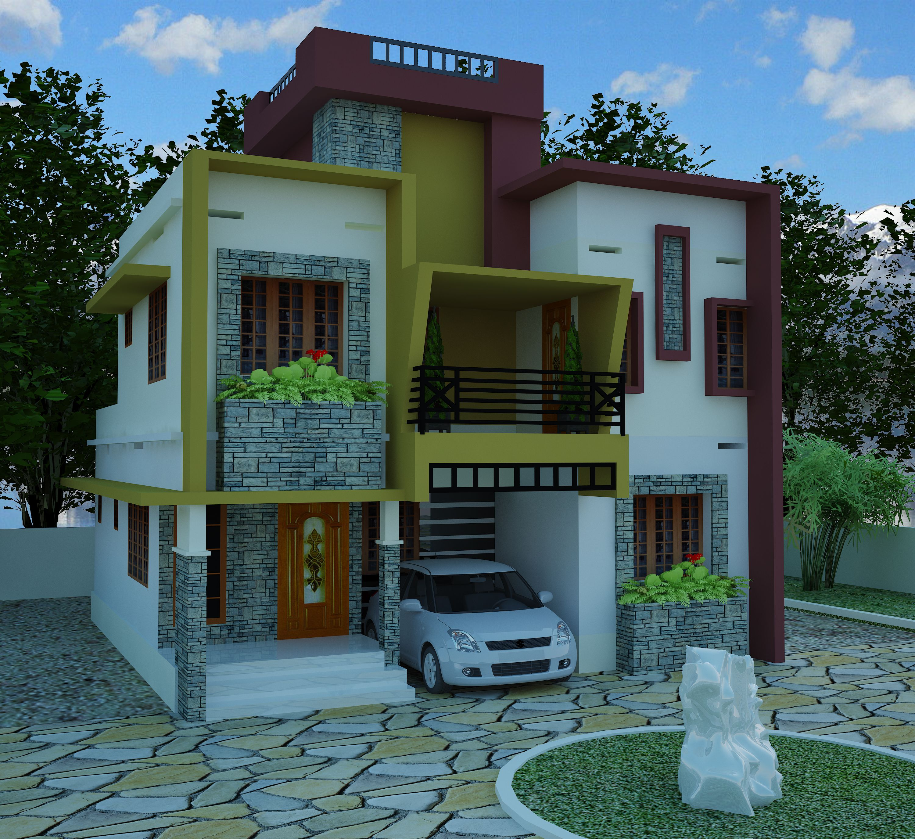 House low cost house plans kerala model
