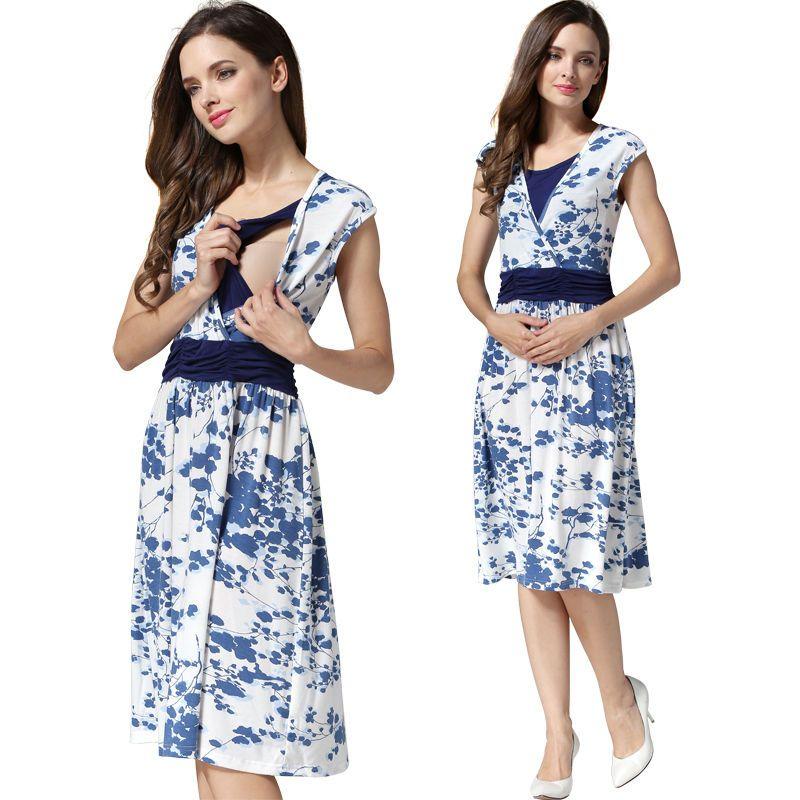 SALE! BNWT STRIPE MATERNITY BREASTFEEDING NURSING DRESS SIZE M L 10 12 14