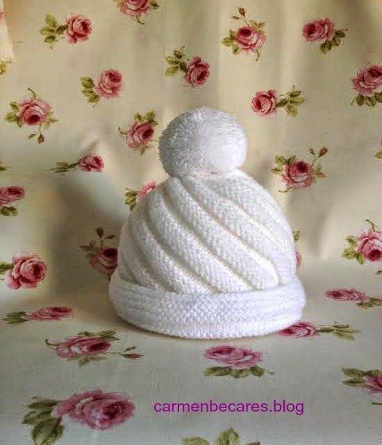 TUTORIAL. Gorro de lana para bebe. ( tejido dos agujas ...