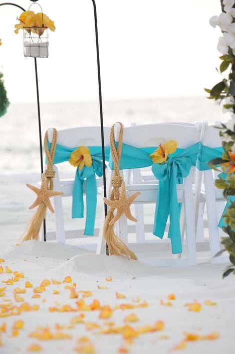 Starfish Chair Hangers Marriage License Florida Sunset Beach Wedding Bigdayweddings Net