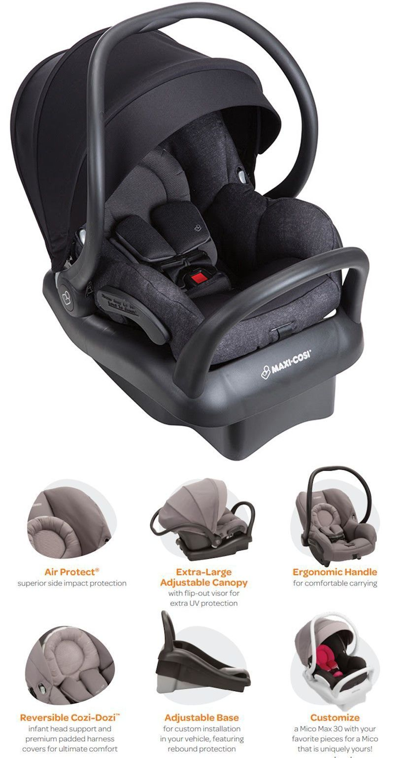 Infant Car Seat 5 20 Lbs 66696 Maxi Cosi Mico Max 30 Air Protect Baby W Nomad Black New BUY IT NOW ONLY 27999 On EBay