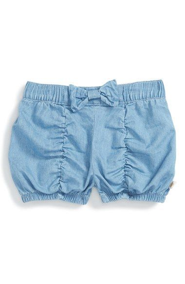 Rosie Pope Ruched Chambray Bubble Shorts (Baby Girls)