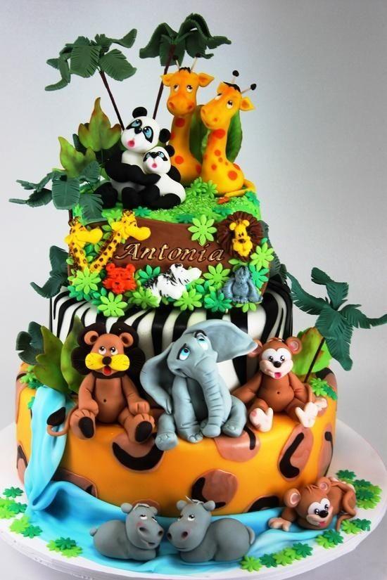 Jungle Safari and Zoo Cake Ideas Inspirations Jungle cake