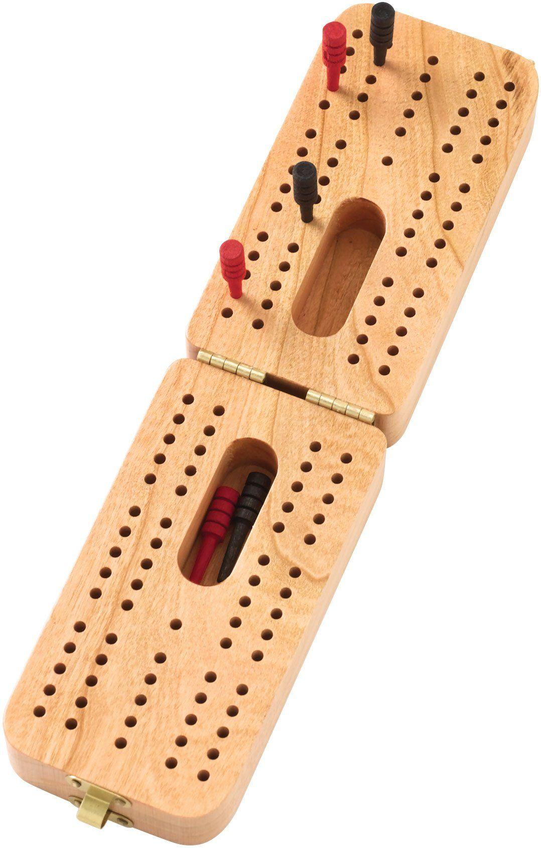 Folding standard cribbage board made in usa cribbage