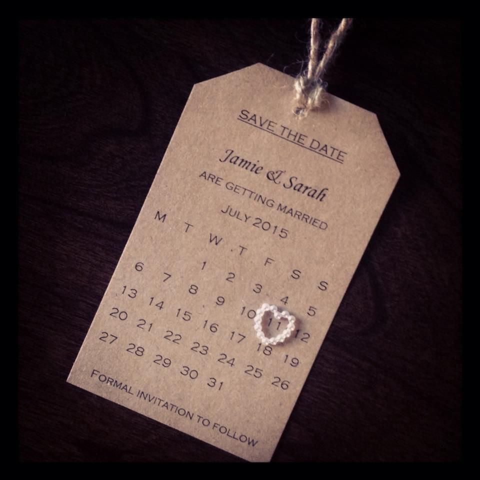 Save The Date wedding homemade simplicity Save