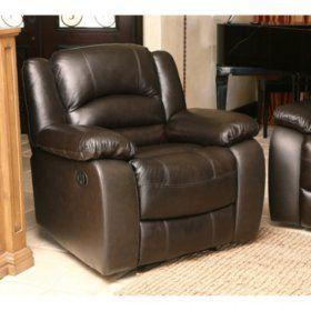 sam s club verona top grain leather recliner living room in 2019 rh pinterest com
