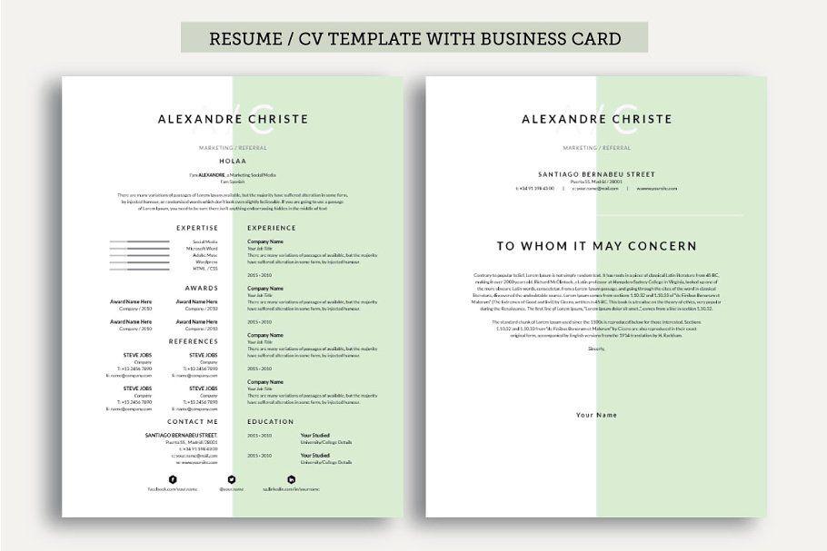 Resume/CV Cover Letter in 2020 Cv cover letter, Resume