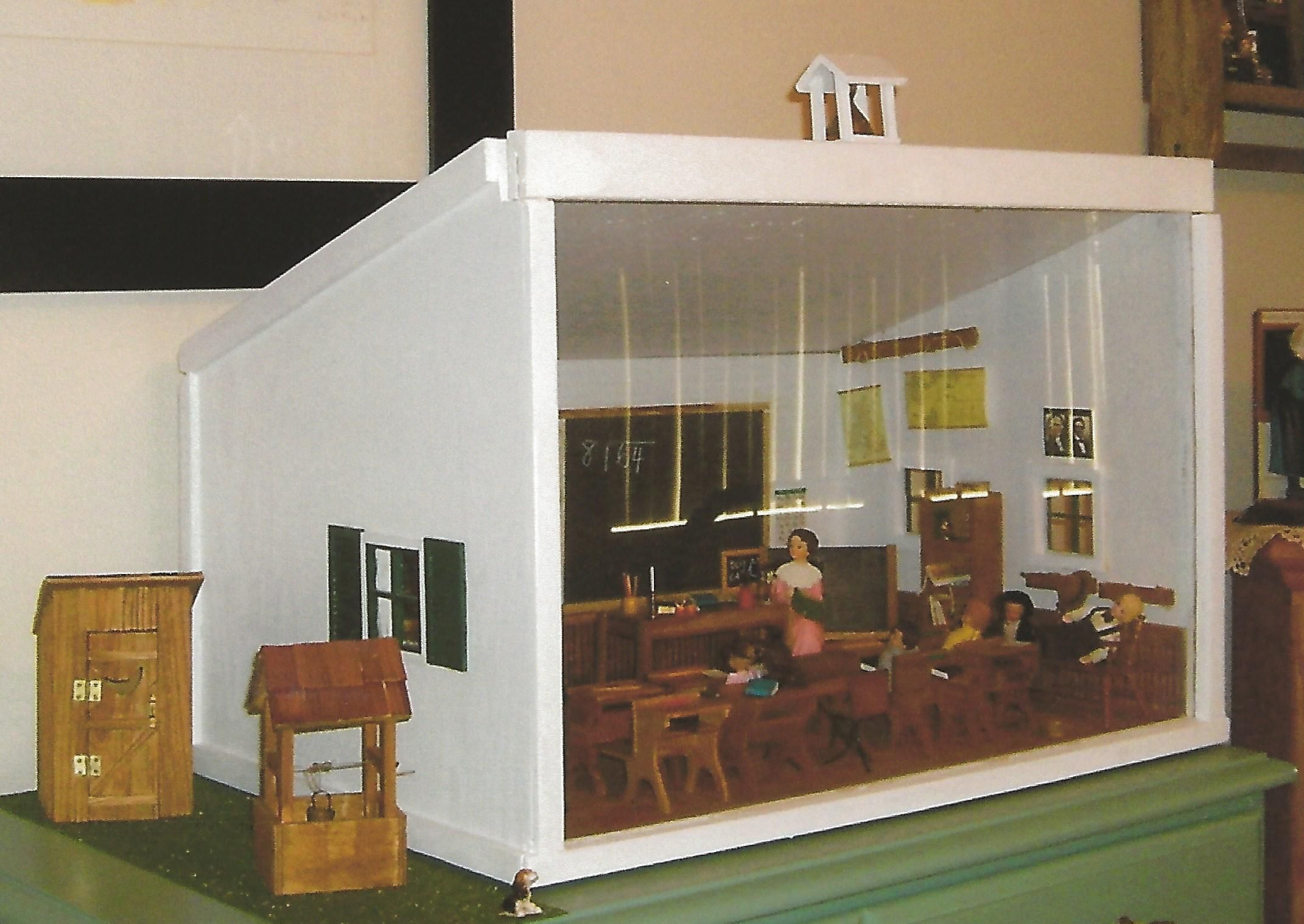 Good one room school house diorama lrzo for Building a one room house