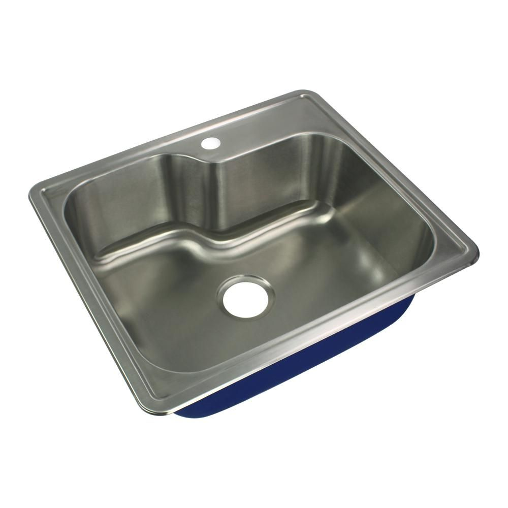 transolid meridian drop in stainless steel 25 in 1 hole single bowl rh co pinterest com