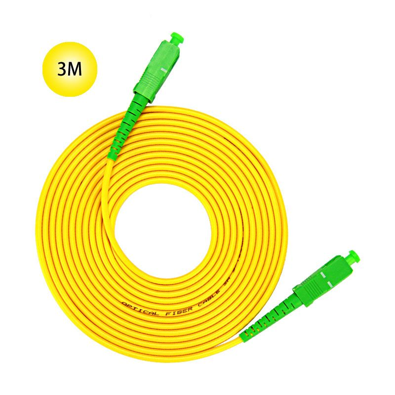 SC APC To 9 125 Singlemode Fiber Patch Cable 3M Jumper