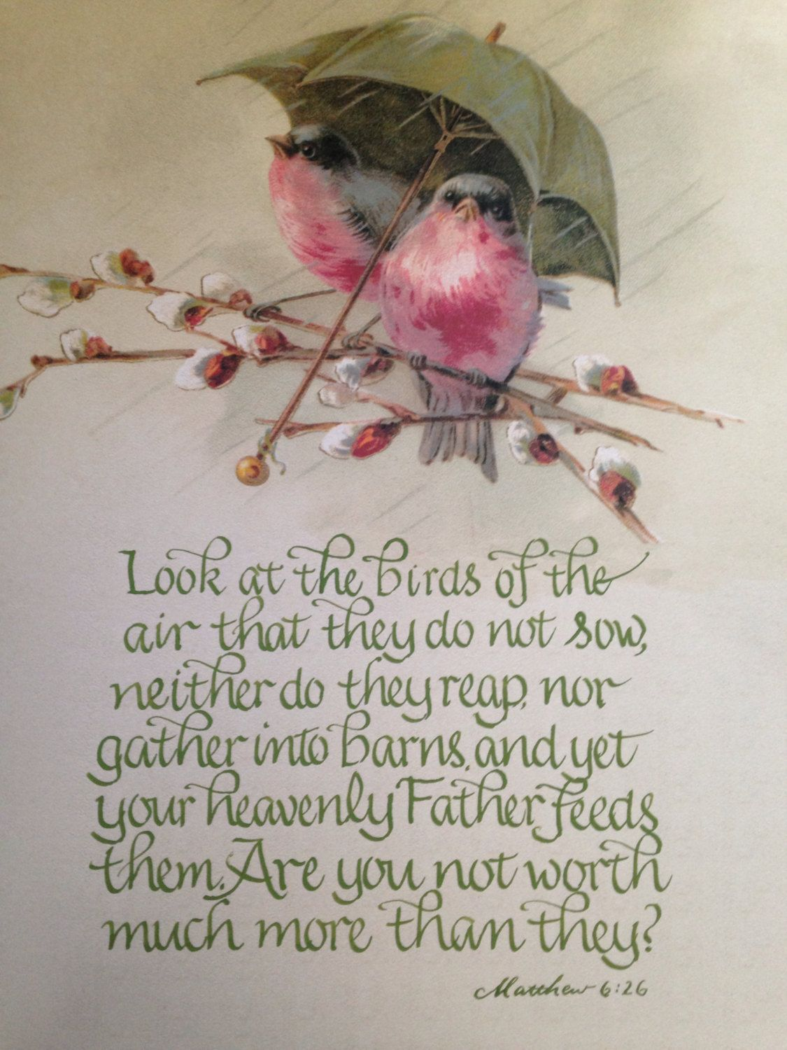 Bible Verse Wall Art scripture wall art, great gift, bird art, religious wall art