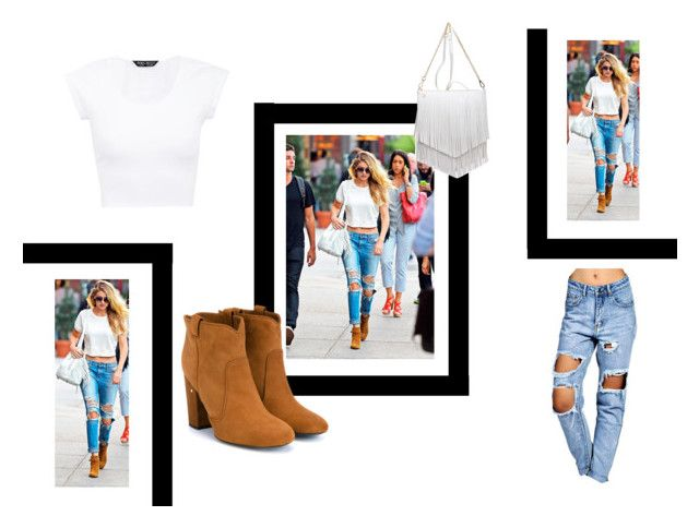 """Hadid Look"" by lavinia-liavaa ❤ liked on Polyvore featuring Boohoo, Laurence Dacade, Patchington and gigi"