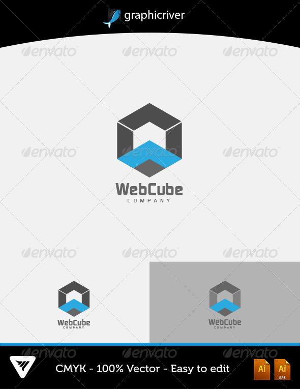 Web cube logo unique creative download https graphicriver also item details  color cmyk fully rh ar pinterest