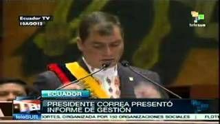 Correa reduce pobreza en Ecuador