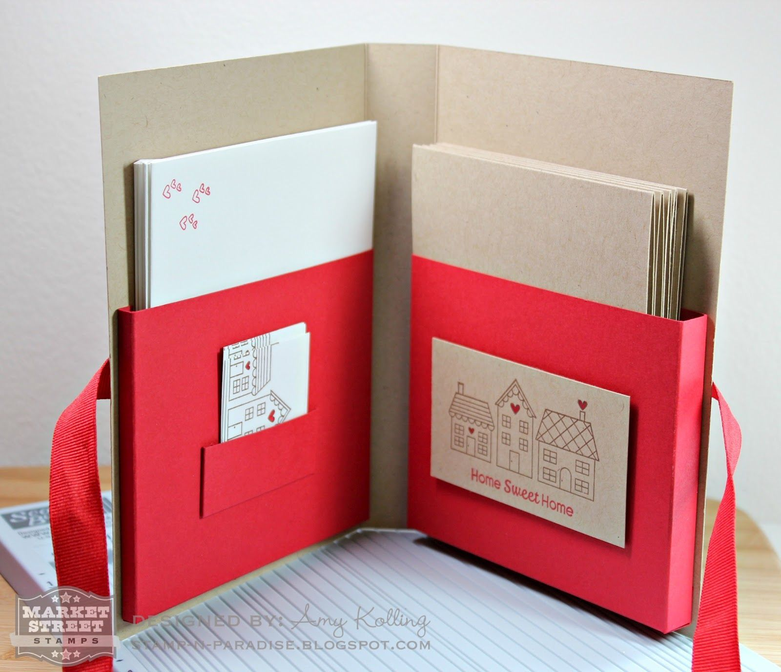 a great gift idea-inside with cards and envelopes.  Stamp-n-Paradise: Market Street Stamps and Scor-Pal