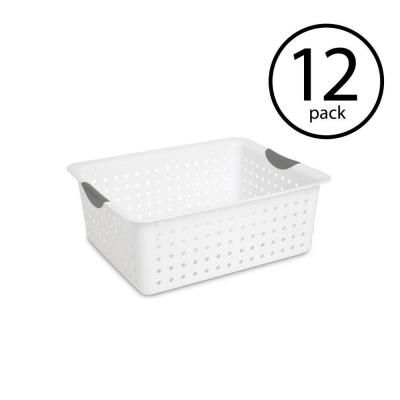 Sterilite 64 Qt Large Ultra Plastic Storage Bin Organizer Basket In White 12 Pack Storage Bins Large Storage Baskets Large Storage Bins