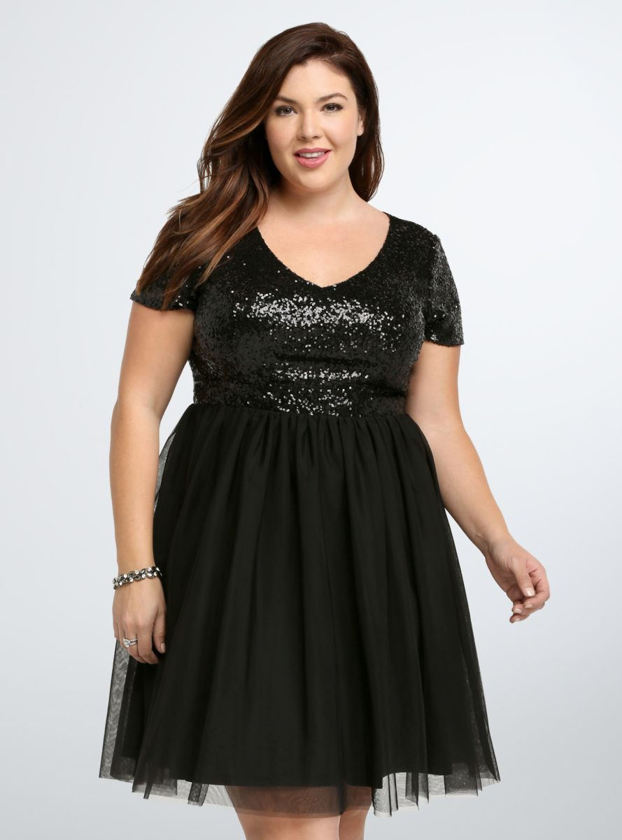 sequin & tulle party dress from the plus size fashion community at