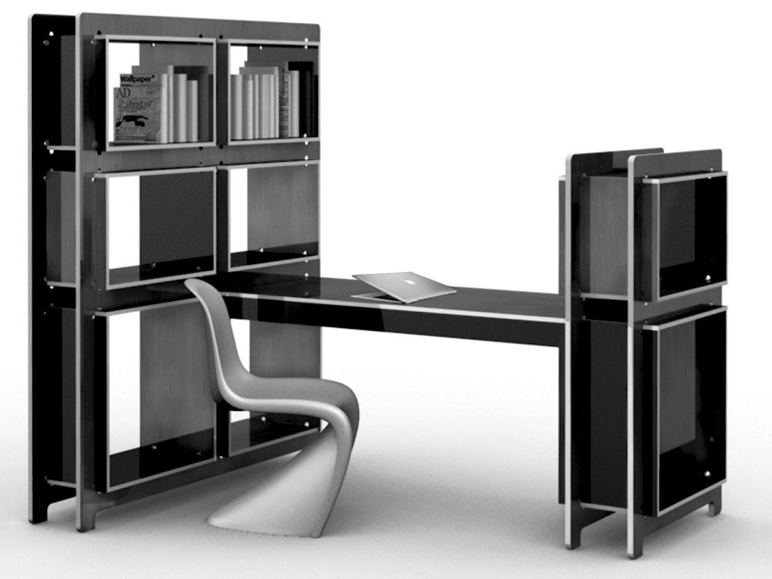 Syst Me De Mobilier Modulaire Kplan Julien Kolmont De Rogier  # Grand Meuble Tv Modulable Sous Escalier