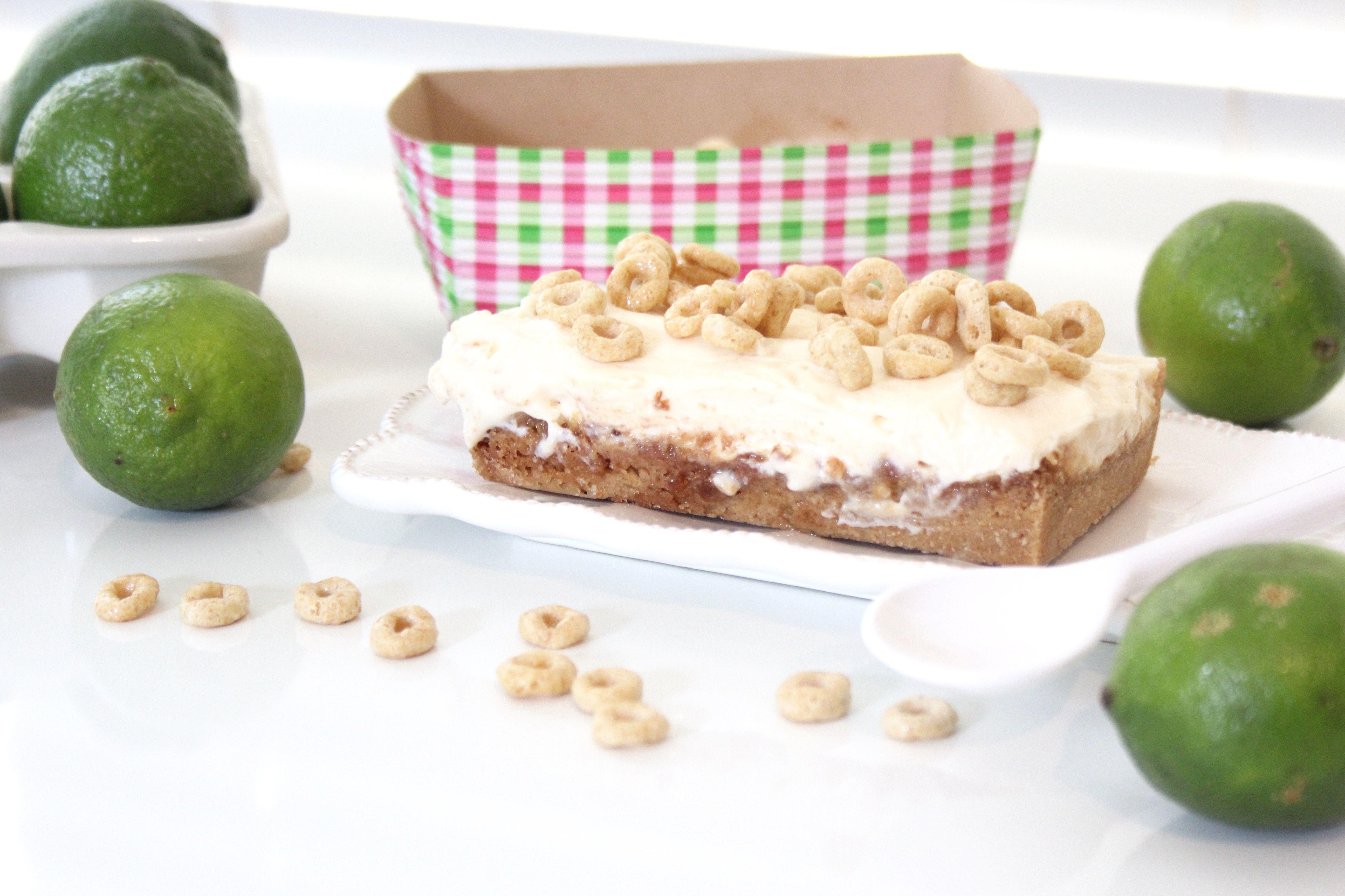 Rica receta de Pie de Limon con base de Honey Nut Cheerios  #honeynutcheerios #nuestrocereal @walmart