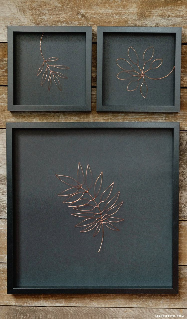 Botanical Copper Wall Art Lia Griffith Copper Wall Art Wire Wall Art Copper Wall