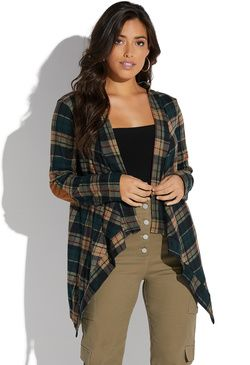 abde3279f9e PLAID CARDIGAN | Unique Style | Sweaters, Sweaters for women, Pullover
