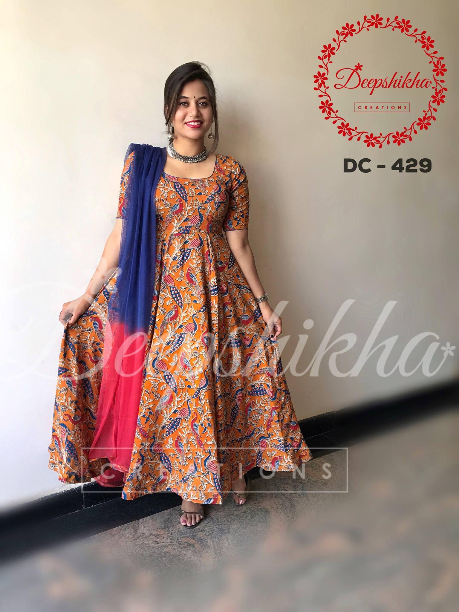4539273e4950e DC 429. Beautiful floor length anarkali dress from Deepshikha Creations.  For queries kindly WhatsApp   +91 9059683293
