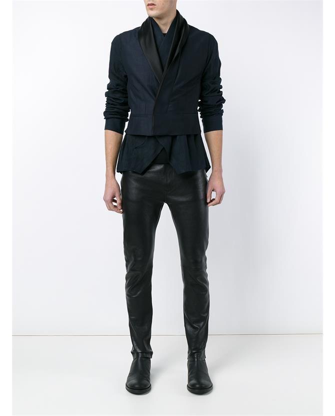 HAIDER ACKERMANN Silk and Linen Waistcoat Jacket