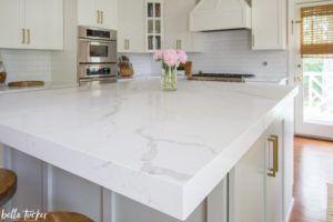 msi calacatta laza quartz mitered edge in 2019 countertops rh pinterest com