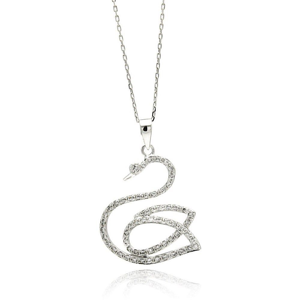 Sterling silver necklace adorned with the highest quality cubic