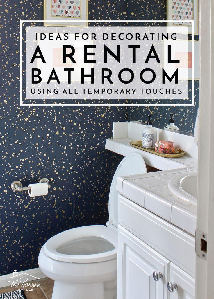 Ideas for Decorating a Rental Bathroom Using