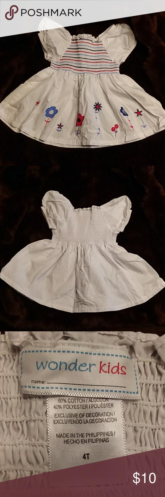 Wonder Kids Adorable Smocked Dress Wonder Kids Girls 4t Adorable Smocked Dress White Dress With Navy Red And Blue Kids Adorable Kids Dresses Clothes Design [ 1740 x 580 Pixel ]