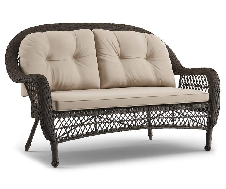 I found a Westwood All Weather Wicker Settee Cushioned ...