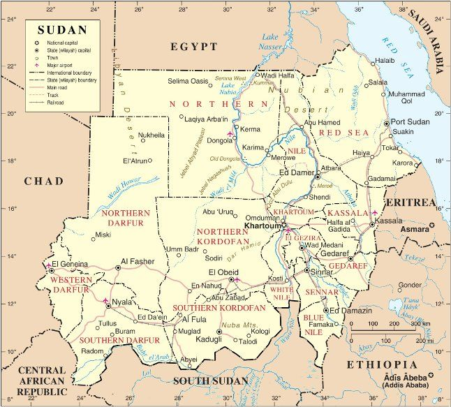 Political map of Sudan The Halaib Triangle has been under Egyptian