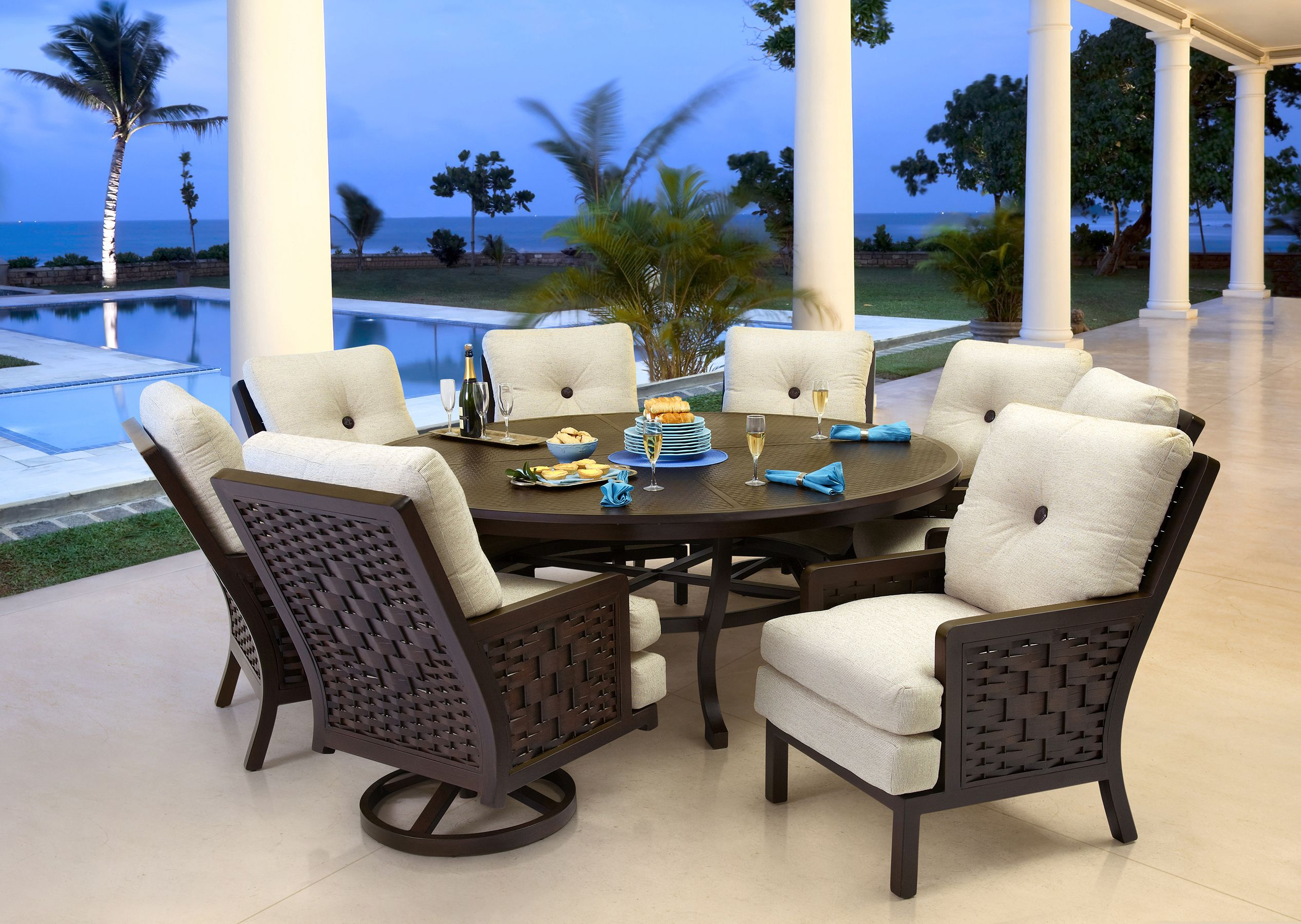 Cushioned Dining In Spanish Bay Collection From Castelle By Pride