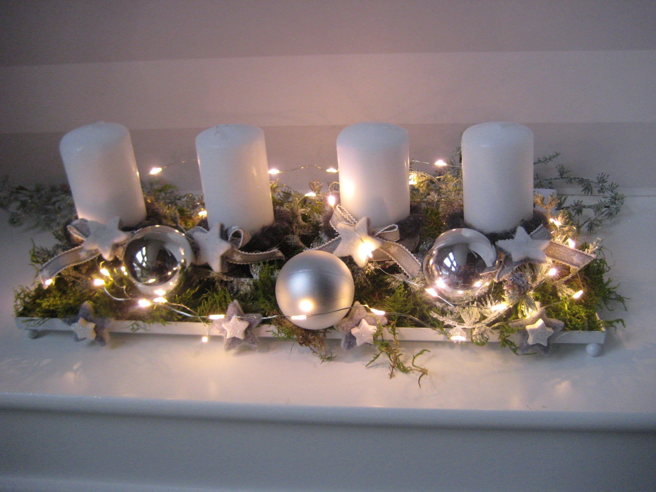 Latest Photo Xl Led Adventskranz Mit Kerzen Wiederverwendbar