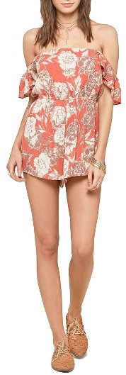 Women's Amuse Society Kiss And Tell Off The Shoulder Romper