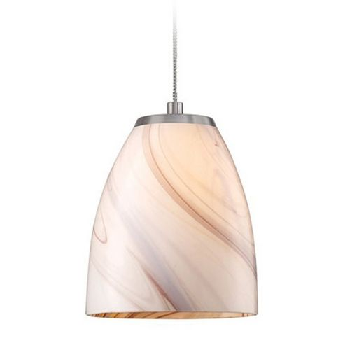 Low voltage led mini pendant light with beige cream glass at destination lighting