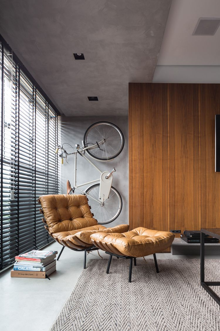 JB Apartment in Porto Alegre by Ambidestro Arquitetura is part of House interior - João Pedro Crescente and Raquel Zaffalon of Brazilian architecture office Ambidestro has recently completed the interiors of this apartment in Porto Alegre, Brazil, that changes according to the use