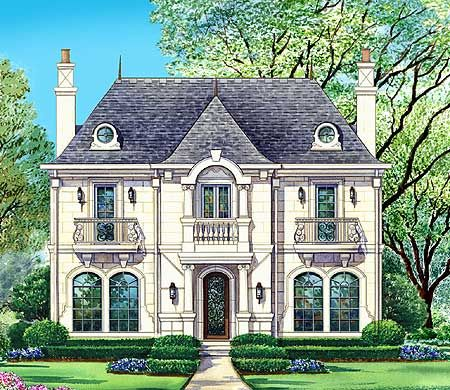Plan 36199tx Upstairs Three Ways Narrow Lot House Plans Brick Exterior House Exterior