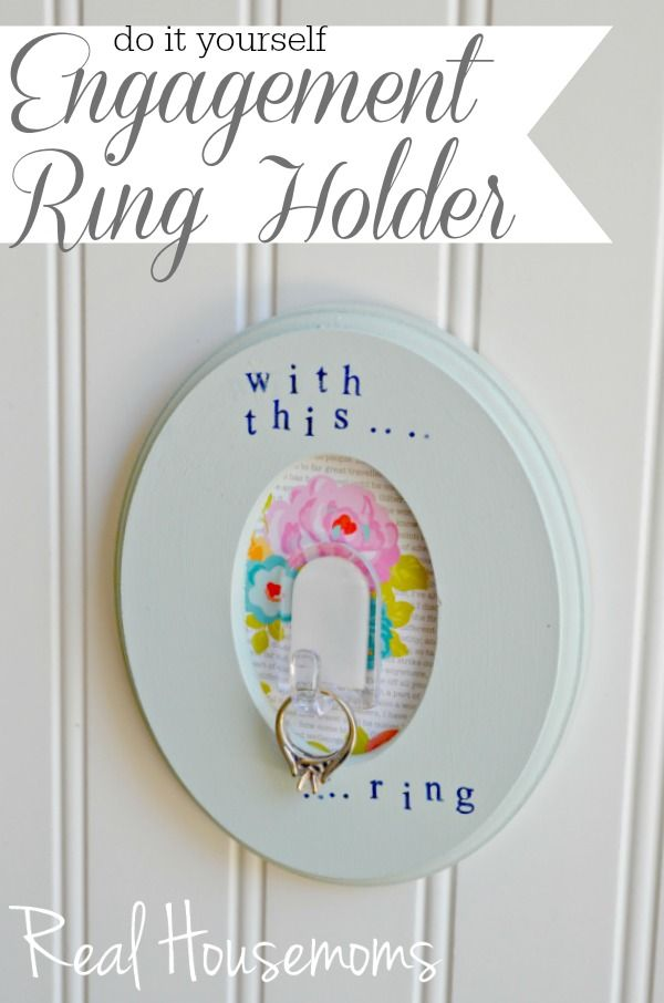 Engagement ring holder engagement ring holders craft and diy stuff do it yourself engagement ring holder real housemoms solutioingenieria Gallery