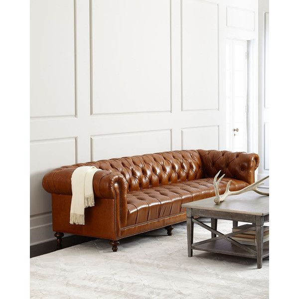 Sensational Massoud Leather Sofa By Davidson 119 Tufted Seat Uwap Interior Chair Design Uwaporg