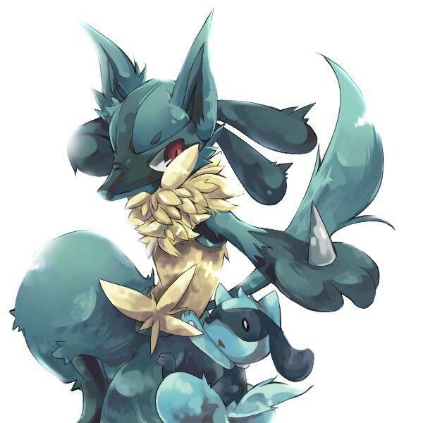 I love Lucario and Riolu~!